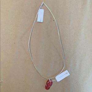 Sterling silver flip flop necklace